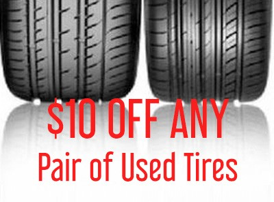 $10 Off Any Pair of Tires at The Car Shoppe